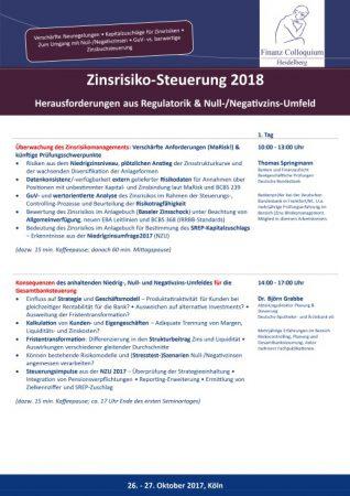 ZinsrisikoSteuerung 2018