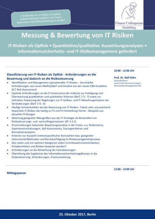 Messung Bewertung von IT Risiken