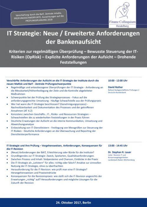 IT Strategie Neue Erweiterte Anforderungen der Bankenaufsicht