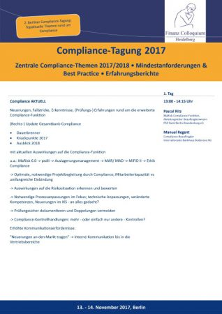 ComplianceTagung 2017