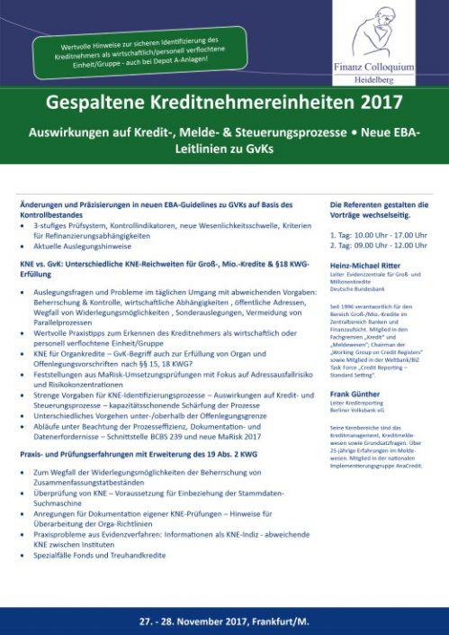 Gespaltene Kreditnehmereinheiten 2017