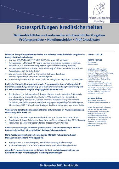 Prozesspruefungen Kreditsicherheiten