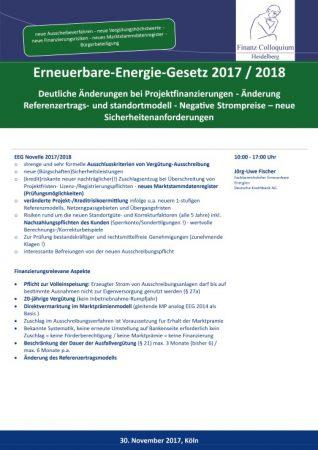 ErneuerbareEnergieGesetz 2017 2018