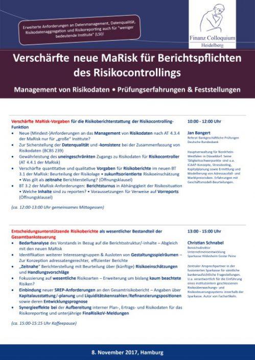 Verschaerfte neue MaRisk fuer Berichtspflichten des Risikocontrollings