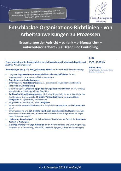 Entschlackte OrganisationsRichtlinien von Arbeitsanweisungen zu Prozessen