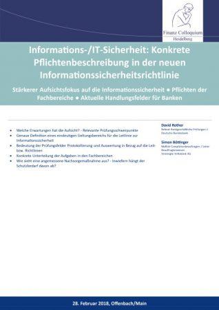 InformationsITSicherheit Konkrete Pflichtenbeschreibung in der neuen Informationssicherheitsrichtlinie