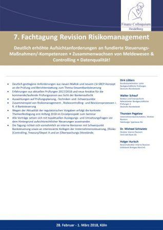 7 Fachtagung Revision Risikomanagement