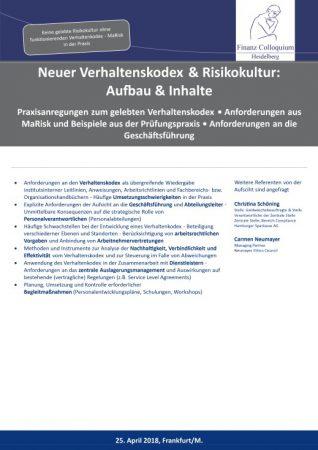 Neuer Verhaltenskodex Risikokultur Aufbau Inhalte