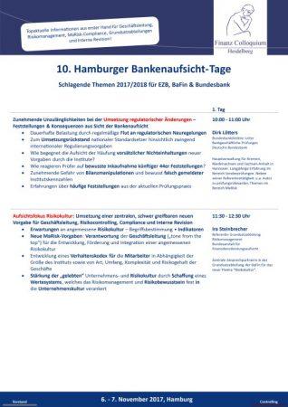 10 Hamburger BankenaufsichtTage