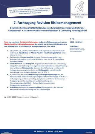 7 Fachtagung Revision Risikomanagement