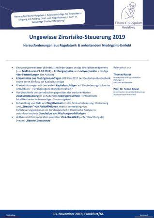 Ungewisse ZinsrisikoSteuerung 2019