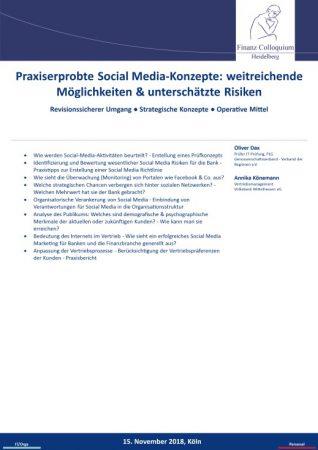 Praxiserprobte Social MediaKonzepte weitreichende Moeglichkeiten unterschaetzte Risiken