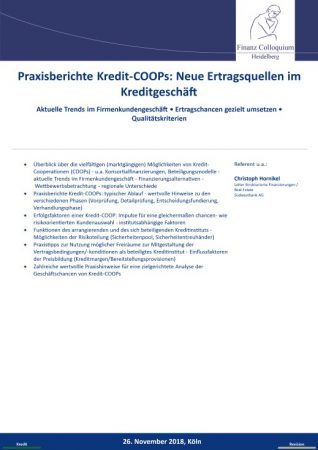 Praxisberichte KreditCOOPs Neue Ertragsquellen im Kreditgeschaeft