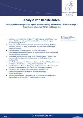 Analyse von Bankbilanzen