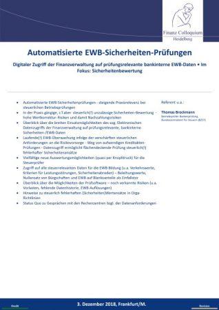 Automatisierte EWBSicherheitenPruefungen