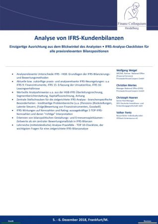 Analyse von IFRSKundenbilanzen
