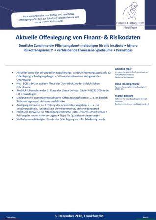 Aktuelle Offenlegung von Finanz Risikodaten
