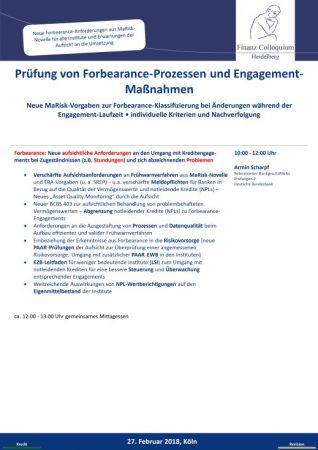Pruefung von ForbearanceProzessen und EngagementManahmen