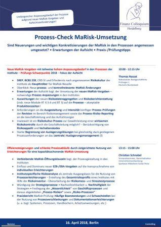ProzessCheck MaRiskUmsetzung