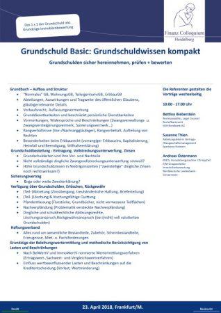 Grundschuld Basic Grundschuldwissen kompakt