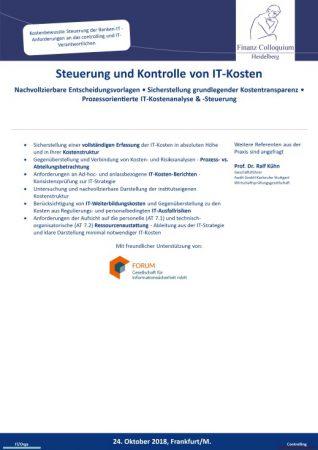 Steuerung und Kontrolle von ITKosten