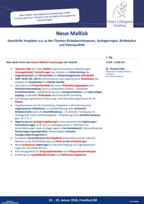 Neue MaRisk