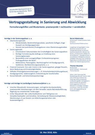 Vertragsgestaltung in Sanierung und Abwicklung