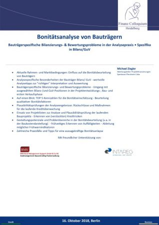 Bonitaetsanalyse von Bautraegern