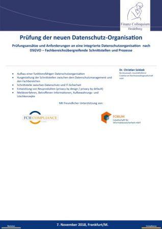 Pruefung der neuen DatenschutzOrganisation