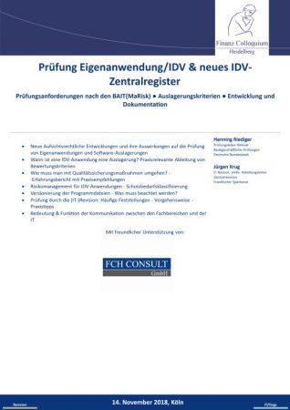 Pruefung EigenanwendungIDV neues IDVZentralregister
