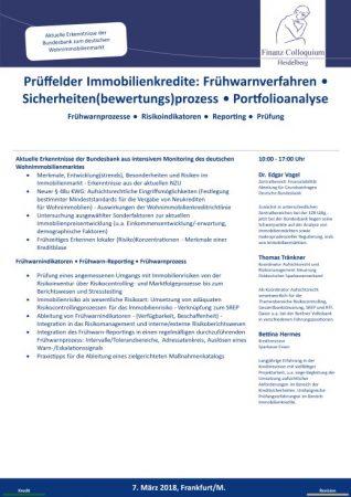 Prueffelder Immobilienkredite Fruehwarnverfahren Sicherheitenbewertungsprozess Portfolioanalyse