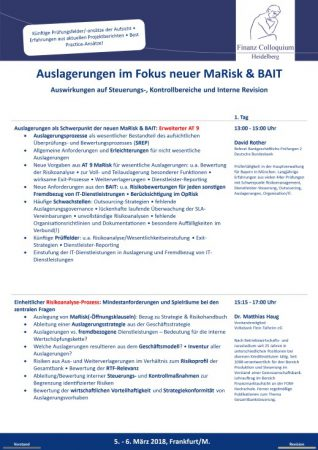Auslagerungen im Fokus neuer MaRisk BAIT