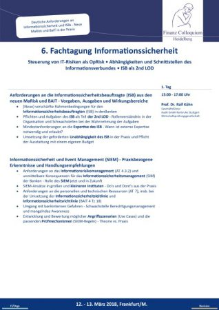 6 Fachtagung Informationssicherheit