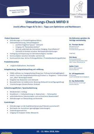 UmsetzungsCheck MIFID II