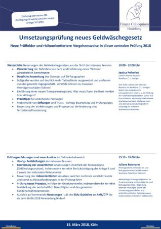 Umsetzungspruefung neues Geldwaeschegesetz