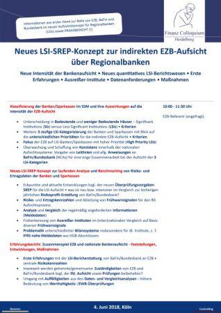 Neues LSISREPKonzept zur indirekten EZBAufsicht ueber Regionalbanken