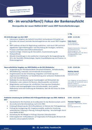 IKS im verschaerften Fokus der Bankenaufsicht