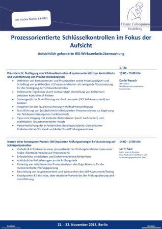 Prozessorientierte Schluesselkontrollen im Fokus der Aufsicht