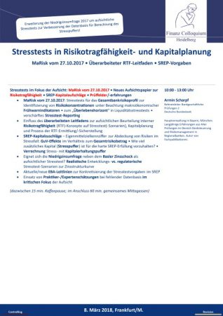 Stresstests in Risikotragfaehigkeit und Kapitalplanung