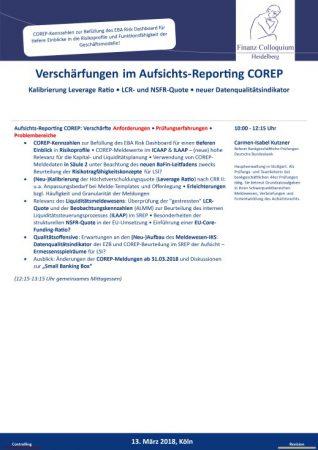 Verschaerfungen im AufsichtsReporting COREP