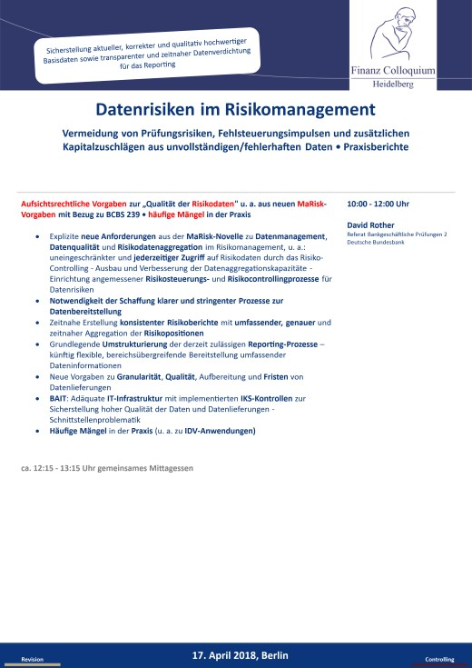 Datenrisiken im Risikomanagement