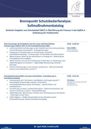 Brennpunkt Schutzbedarfanalyse Sollmanahmenkatalog