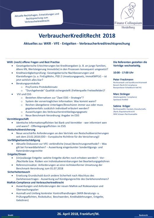 VerbraucherKreditRecht 2018