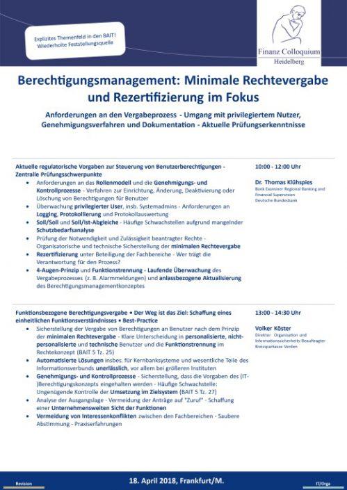 Berechtigungsmanagement Minimale Rechtevergabe und Rezertifizierung im Fokus