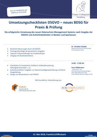 Umsetzungschecklisten DSGVO neues BDSG fuer Praxis Pruefung