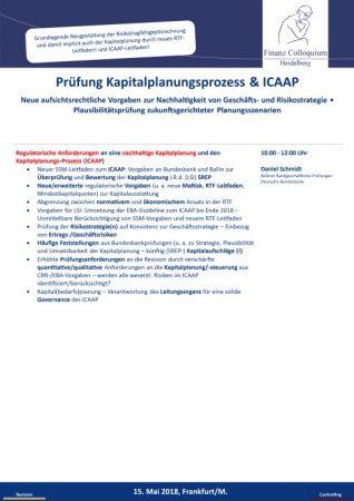 Pruefung Kapitalplanungsprozess ICAAP