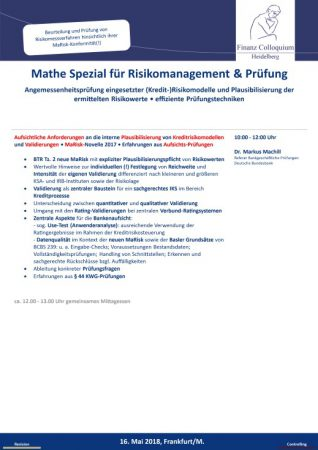 Mathe Spezial fuer Risikomanagement Pruefung
