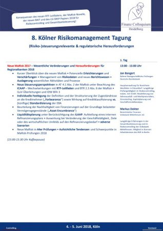 8 Koelner Risikomanagement Tagung