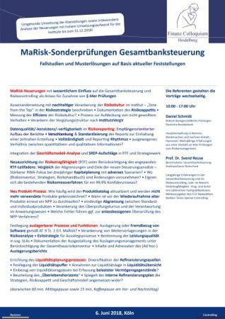 MaRiskSonderpruefungen Gesamtbanksteuerung