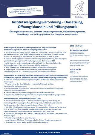 Institutsverguetungsverordnung Umsetzung Oeffnungsklauseln und Pruefungspraxis